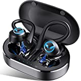 Bluetooth Kopfhörer Sport, Kopfhörer Kabellos in Ear Bluetooth 5.1, IP7 Wasserdicht, Wireless Earbuds mit CVC8.0 Mikrofon Deep Bass Stereoklang, 45H Spielzeit, in-Ear Ohrhörer für Joggen und Arbeit