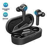 Bluetooth Kopfhörer/4Mikrofon, Upgrated Mpow M9 in Ear kopfhörer kabelloses mit Bass Stereo Sport Kopfhörer, 40Std, Touch Sensoren /USB-C-Ladebox/Single/Twin Mode, IPX7 Wasserdicht, für Cellphones,PC