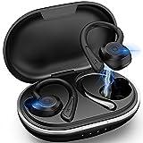 Muzili Bluetooth 5.0 Kopfhörer Sport[2021 Neuestes Modell] Kopfhörer Sport Joggen IPX7 Wasserdicht Sport Kopfhörer Kabellose In Ear 36 Stunden Spielzeit mit Ladebox für Alle Smartphone