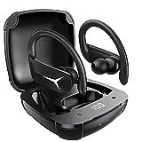 BluetoothKopfhörer Sport AOVOCE KabellosKopfhörerInEar Bluetooth 5.1 kopfhörer kabellos 36H IPX7 mit Mikrofon und Auto pairing Touch Control HiFi Ohrhörer Stereo LED Anzeige für iPhone und Android