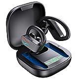 Bluetooth 5.1 Kopfhörer Sport IPX7 Wasserdicht Kabellose Sportkopfhörer In Ear Wireless Earbuds Ohrhörer 40 Stunden Spielzeit, Premium Klangprofil, Kopfhörer Sport Joggen Fitness mit HD Mikrofon