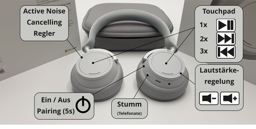 Microsoft Surface Headphones Bedienung