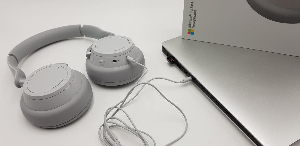 Microsoft Surface Headphones mit Klinkenkabel