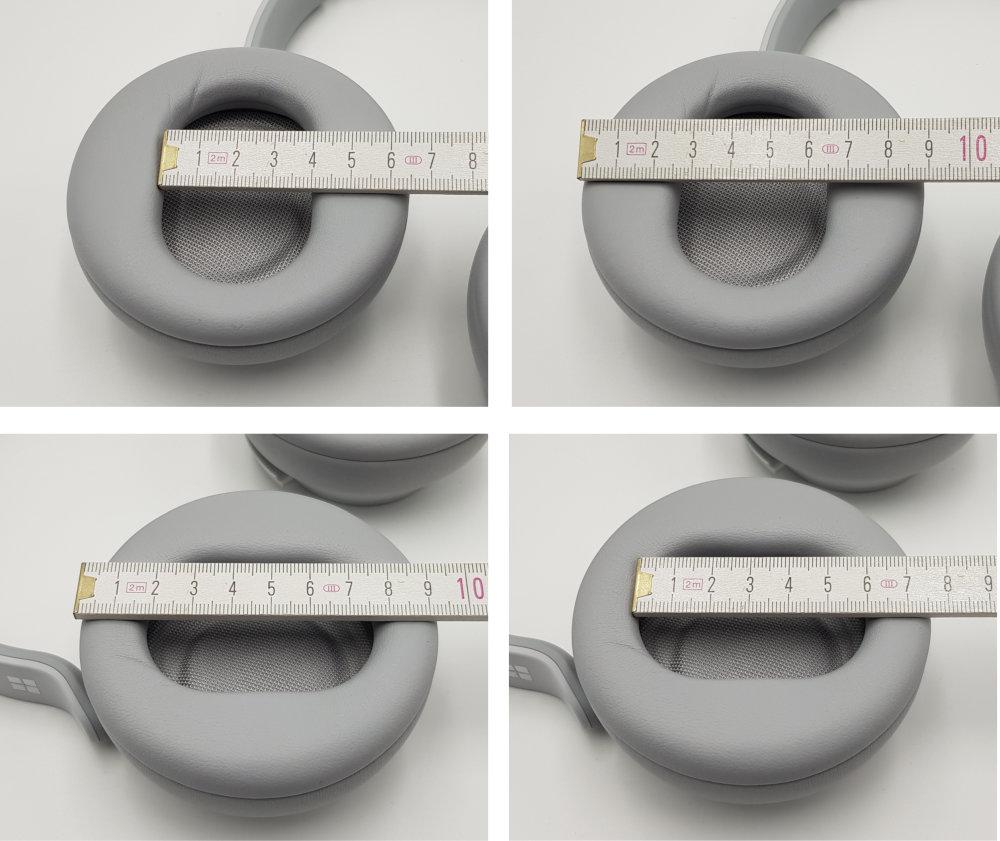 Microsoft Surface headphones design ohrmuscheln